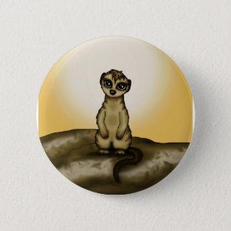 niedliches Meerkat Runder Button 5,1 Cm