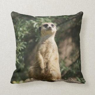 Niedliches Meerkat Throw-Kissen Kissen