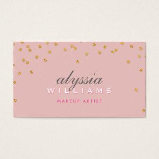 NIEDLICHES Miniconfettigoldfunkelnd Glitter blaß - Visitenkarte