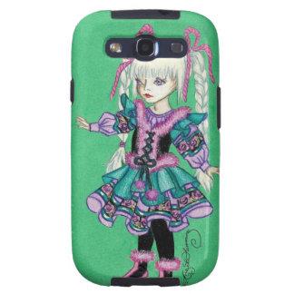 Niedliches Modemädchen mit blonden Borten Galaxy S3 Schutzhüllen