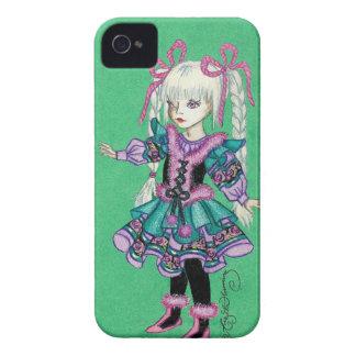 Niedliches Modemädchen mit blonden Borten Case-Mate iPhone 4 Hüllen