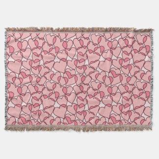 Niedliches modernes rosa Herzmuster Decke