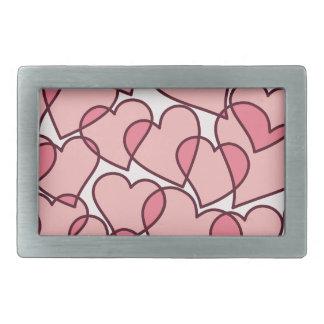Niedliches modernes rosa Herzmuster Rechteckige Gürtelschnallen