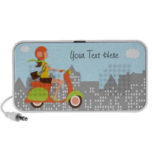 Niedliches Moped in den Stadt-MiniLautsprecher Reise Lautsprecher