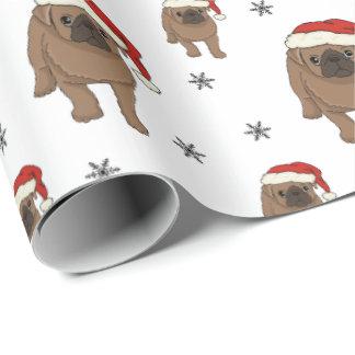 Niedliches Mops-Weihnachtsverpackungs-Papier Geschenkpapier