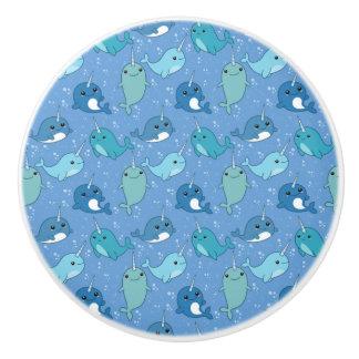 Niedliches Narwhal Muster Keramikknauf