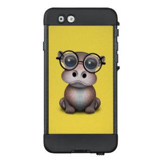Niedliches Nerdy Baby-Flusspferd-tragende Gläser LifeProof NÜÜD iPhone 6 Hülle