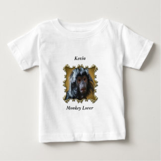 Niedliches neugieriges Affebaby mit flaumigem Pelz Baby T-shirt