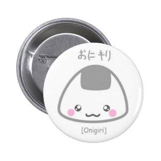 Niedliches Onigiri Runder Button 5,1 Cm