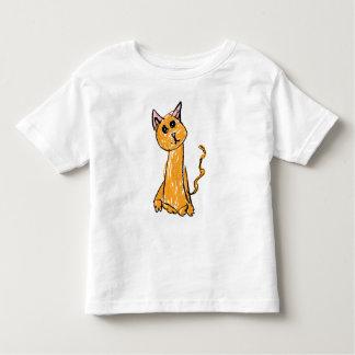 Niedliches orange Katzen-T-Shirt Kleinkind T-shirt