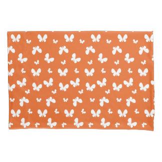 Niedliches orange Schmetterlings-Muster Kissenbezug