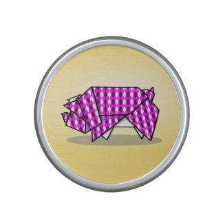 Niedliches Origami Schwein Lautsprecher