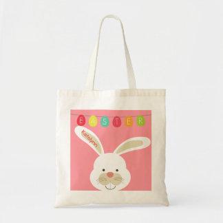 Niedliches Ostern-Kaninchen-personalisierte Tragetasche