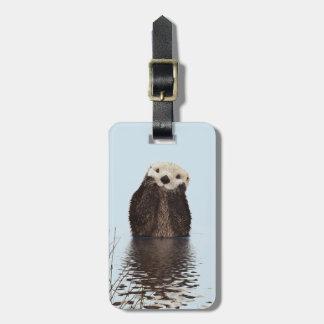 Niedliches Otter-Gesichts-Natur-Foto Gepäckanhänger