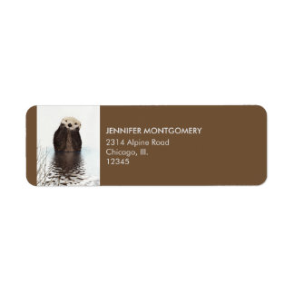 Niedliches Otter-Tier-Bild Kleiner Adressaufkleber