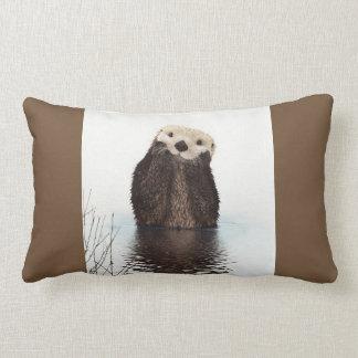 Niedliches Otter-Tier-Bild Lendenkissen