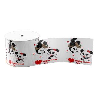 Niedliches Panda-Bärn-lustiges personalisiertes Ripsband