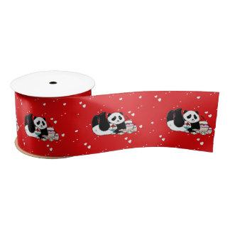 Niedliches Panda-Bärn-lustiges personalisiertes Satinband