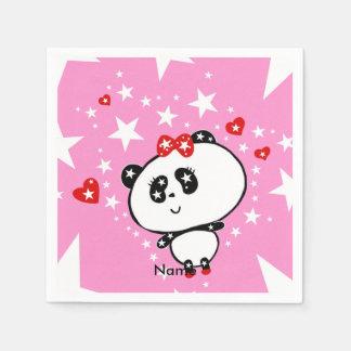 Niedliches Panda-Bärn-lustiges personalisiertes Serviette