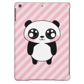 Niedliches Panda-Bärn-Rosa Stripes Hintergrund iPad Air Hülle