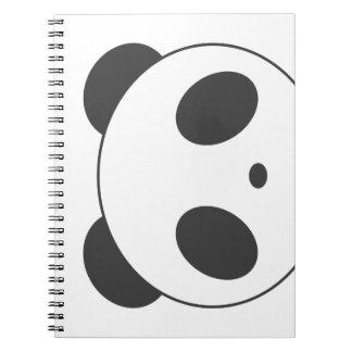 Niedliches Panda-Notizbuch Spiral Notizblock