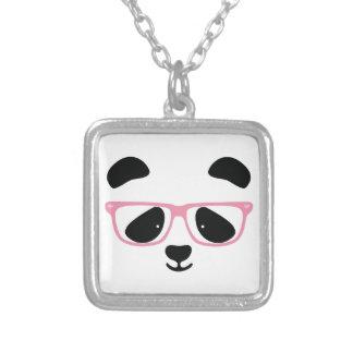 Niedliches Panda-Rosa Versilberte Kette