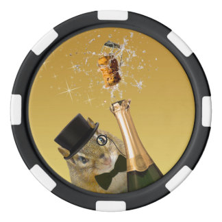 Niedliches Party des Chipmunk-Sylvesterabends Poker Chip Set