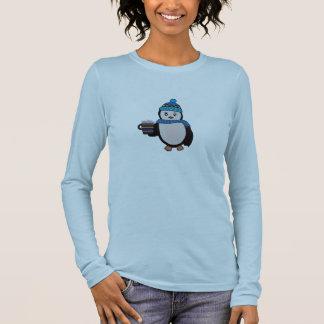 Niedliches Penguin-Shirt Langarm T-Shirt