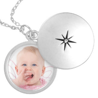 Niedliches personalisiertes Baby-Foto Medaillon