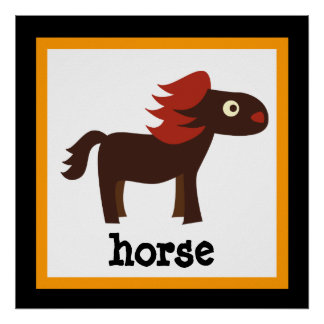 Niedliches Pferdesafari-Tier-Baby scherzt Plakat