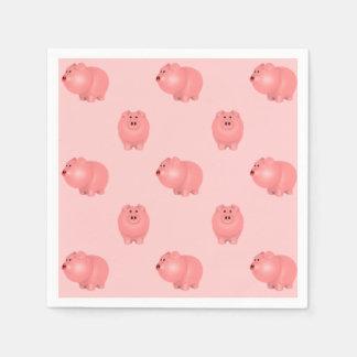 Niedliches Piggy Muster: Wählen Sie Ihren eigenen Papierservietten