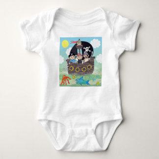 Niedliches Piratenbaby wachsen Baby Strampler