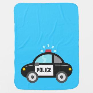 Niedliches Polizei-Auto mit Sirene Babydecke