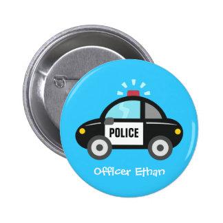 Niedliches Polizei-Auto mit Sirene für Kinder Runder Button 5,1 Cm