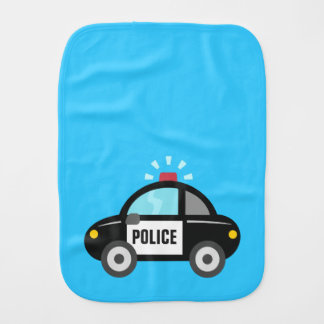 Niedliches Polizei-Auto mit Sirene Spucktuch