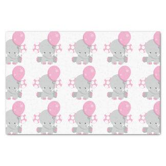 Niedliches Polka-Punkt-rosa Elefant-Mädchen-Baby Seidenpapier
