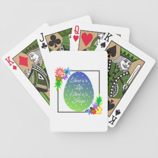 Niedliches Polkapunktei mit Blumenwreath Bicycle Spielkarten