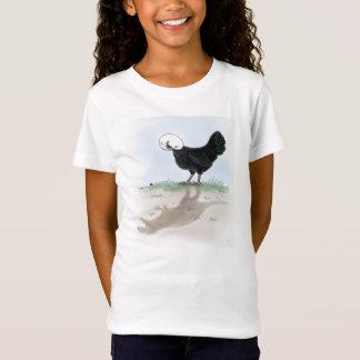 Niedliches polnisches Huhn, das eine kleine T-Shirt