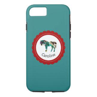 Niedliches Pony mit Blauem und Rotem iPhone 8/7 Hülle