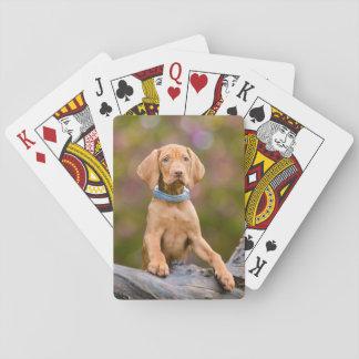 Niedliches puppyeyed Ungar Vizsla Spielkarten
