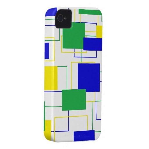 Niedliches Quadrat-BlackBerry-mutiger Kasten Case-Mate iPhone 4 Hülle