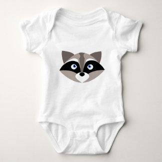 Niedliches Raccoon-Gesicht Baby Strampler