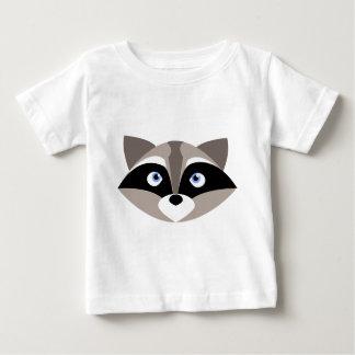 Niedliches Raccoon-Gesicht Baby T-shirt