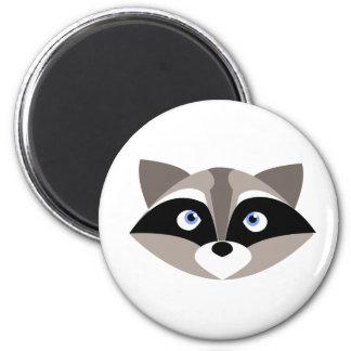 Niedliches Raccoon-Gesicht Runder Magnet 5,1 Cm