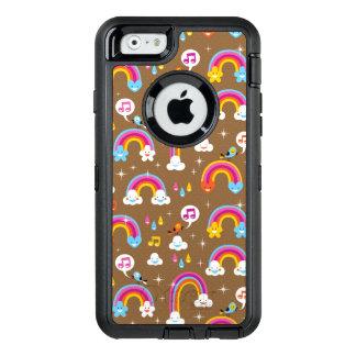 niedliches Regenbogenmuster OtterBox iPhone 6/6s Hülle