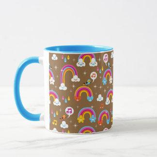 niedliches Regenbogenmuster Tasse