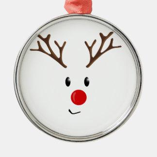 Niedliches Ren Silbernes Ornament