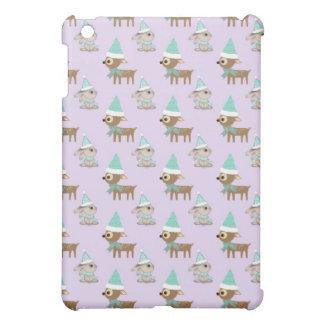 Niedliches Ren-und Häschen-Feiertags-Kunst-Muster iPad Mini Hülle