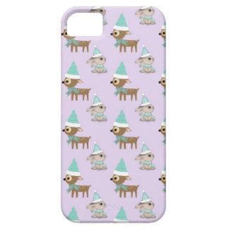 Niedliches Ren-und Häschen-Feiertags-Kunst-Muster iPhone 5 Schutzhülle