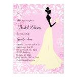 Niedliches rosa Brautparty laden ein Personalisierte Einladungskarte